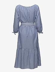 Gant - O1. PREPPY STRIPED SHIRT DRESS - paitamekot - college blue - 1