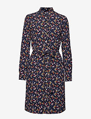 Gant - D1. SCRIBBLED FLORAL SHIRT DRESS - paitamekot - evening blue - 0