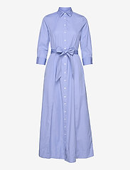 Gant - D2. MAXI SHIRT DRESS - shirt dresses - lavender blue - 0