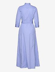 Gant - D2. MAXI SHIRT DRESS - shirt dresses - lavender blue - 1