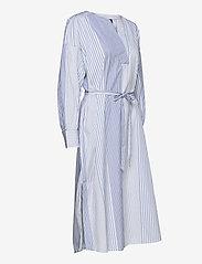 GANT - D1. MIX STRIPE KAFTAN DRESS - shirt dresses - blue bell - 4