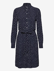 GANT - D1. DESERT JEWEL PRINT SHIRT DRESS - shirt dresses - evening blue - 0