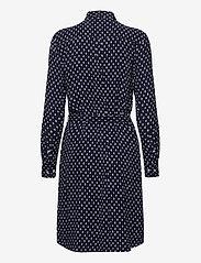 GANT - D1. DESERT JEWEL PRINT SHIRT DRESS - shirt dresses - evening blue - 1