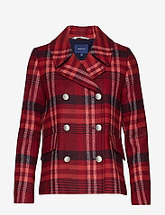 GANT - D1. CLASSIC PEACOAT - wool jackets - mahogny red - 0