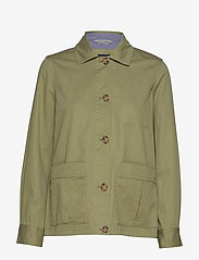 Gant - D2. SHIRT JACKET - vestes legères - oil green - 0