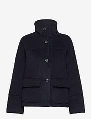 GANT - D1. WOOL BLEND CROPPED JACKET - wool jackets - evening blue - 1