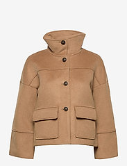 GANT - D1. WOOL BLEND CROPPED JACKET - wool jackets - warm khaki - 1