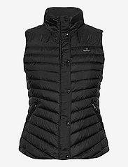GANT - LIGHT DOWN GILET - puffer vests - black - 1