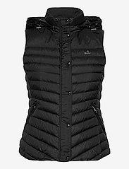 GANT - LIGHT DOWN GILET - puffer vests - black - 2