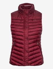 GANT - LIGHT DOWN GILET - puffer vests - cabernet red - 0