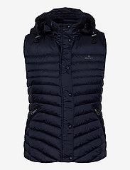 GANT - LIGHT DOWN GILET - puffer vests - evening blue - 2