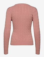 Gant - STRETCH COTTON CABLE C-NECK - tröjor - ash rose - 1