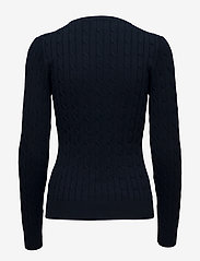 GANT - STRETCH COTTON CABLE C-NECK - jumpers - evening blue - 1