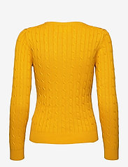 GANT - STRETCH COTTON CABLE C-NECK - jumpers - ivy gold - 1
