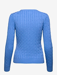 GANT - STRETCH COTTON CABLE C-NECK - jumpers - pacific blue - 1