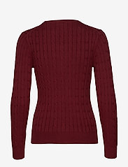 GANT - STRETCH COTTON CABLE C-NECK - jumpers - port red - 1