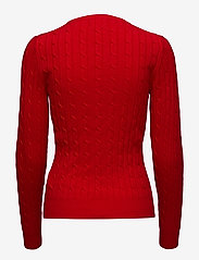GANT - STRETCH COTTON CABLE V-NECK - jumpers - bright red - 2