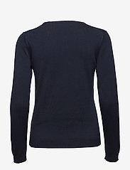 Gant - LT WEIGHT COTTON CREW NECK - neulepuserot - evening blue - 1