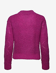 GANT - D2. WOOL MOHAIR POINTELLE CREW - jumpers - orchid purple - 1
