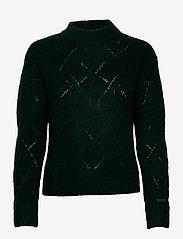 GANT - D2. WOOL MOHAIR POINTELLE CREW - jumpers - tartan green - 0
