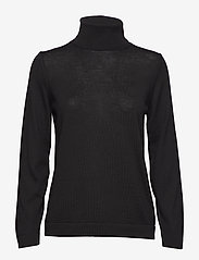 Gant - FINE MERINO TURTLE NECK - turtlenecks - black - 0