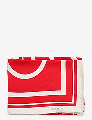 GANT - D1. LARGE G SILK SCARF - scarves - bright red - 1