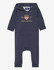 GANT - D1. ARCHIVE SHIELD HOODIE COVERALL - langärmelig - evening blue - 0