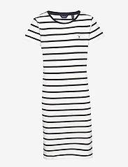 GANT - D1. TG BRETON STRIPED JERSEY DRESS - robes - eggshell - 0