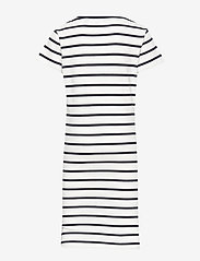 GANT - D1. TG BRETON STRIPED JERSEY DRESS - robes - eggshell - 1