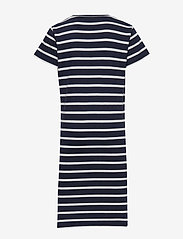 GANT - D1. TG BRETON STRIPED JERSEY DRESS - robes - evening blue - 1