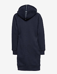 GANT - D1. LOCK UP STRIPE HOODIE DRESS - robes - evening blue - 1