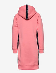 GANT - D1. LOCK UP STRIPE HOODIE DRESS - robes - strawberry pink - 1