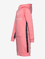 GANT - D1. LOCK UP STRIPE HOODIE DRESS - robes - strawberry pink - 2