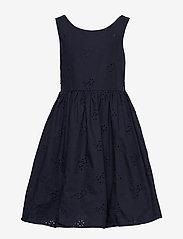 Gant - D2. BRODERIE ANGLAISE DRESS - dresses - evening blue - 0