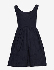 Gant - D2. BRODERIE ANGLAISE DRESS - dresses - evening blue - 1