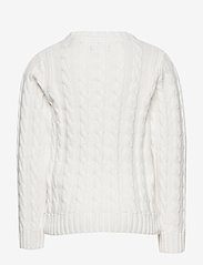 GANT - COTTON CABLE CREW - strickmode - eggshell - 1