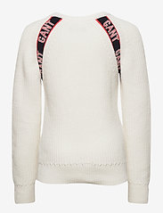 GANT - D1. LOGO RAGLAN - sweatshirts - eggshell - 1