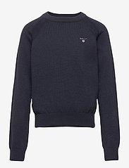 GANT - D1. BASIC C-NECK - sweatshirts - evening blue - 0