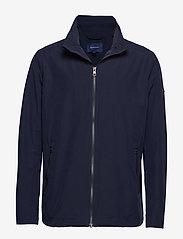 Gant - O1. THE COAST MID JACKET - light jackets - evening blue - 0