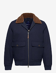 GANT - D2. WOOL FLIGHT JACKET - wool jackets - marine - 0