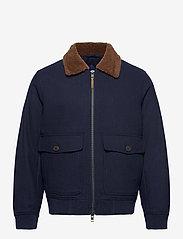 GANT - D2. WOOL FLIGHT JACKET - wool jackets - marine - 1