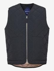 GANT - D1. QUILTED VEST - vests - black - 0