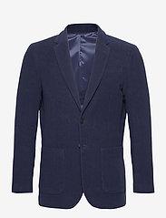 GANT - D2. SLIM MOLESKIN BLAZER - single breasted blazers - evening blue - 0