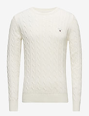 Gant - COTTON CABLE CREW - basic knitwear - cream - 0