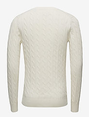 Gant - COTTON CABLE CREW - basic knitwear - cream - 1