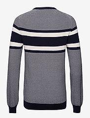 Gant - O1. BRETON STRIPE CREW - knitted round necks - marine - 1