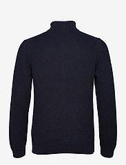 GANT - D2. COTTON STRUCTURE FULL ZIP - basic knitwear - evening blue - 1