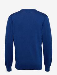 GANT - CLASSIC COTTON V-NECK - knitted v-necks - crisp blue - 1