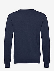 GANT - CLASSIC COTTON V-NECK - knitted v-necks - dark jeansblue melange - 1