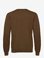 GANT - CLASSIC COTTON V-NECK - knitted v-necks - hazelnut melange - 1